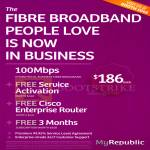 MyRepublic Business 100Mbps Fibre Broadband