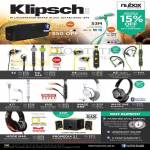 Klipsch KMC3 Bluetooth Wireless Speakers, S3M Earphones, S4, S4i, S4A, A5i, X7i, X10i, Image One, Promedia 2.1, Mode M40 Headphones