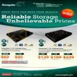 Seagate External Storage Expansion Hard Disk Drives