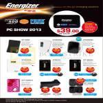 Energizer Portable Chargers XP1000, XP2000A, XP3000M, XP4003A, XP8000, XP18000, XP1000KT, XP1000K, XP2000K, AP500MC, AP750B