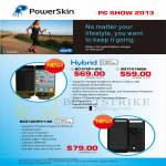 PowerSkin Portable Chargers B01FXP1-IP5, B01FX1MBA, BC01AEIP51-BK