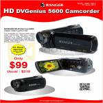 Systems Tech Ranger HD DVGenius 5600 Video Camcorder