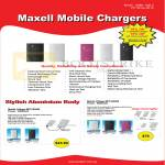 Systems Tech Ranger Maxell Mobile Portable Chargers, MPC-B2800, MPC-B5000