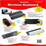 Systems Tech Ranger SmartyRemote Keyboard, Palmtop Touchpad Laser Pointer, Bluetooth
