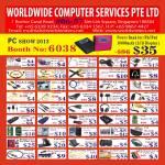 Worldwide Computer Accessories Lightning Cable, USB, HDMI, VGA, NIC, Headphone, SIM Card Reader, Case