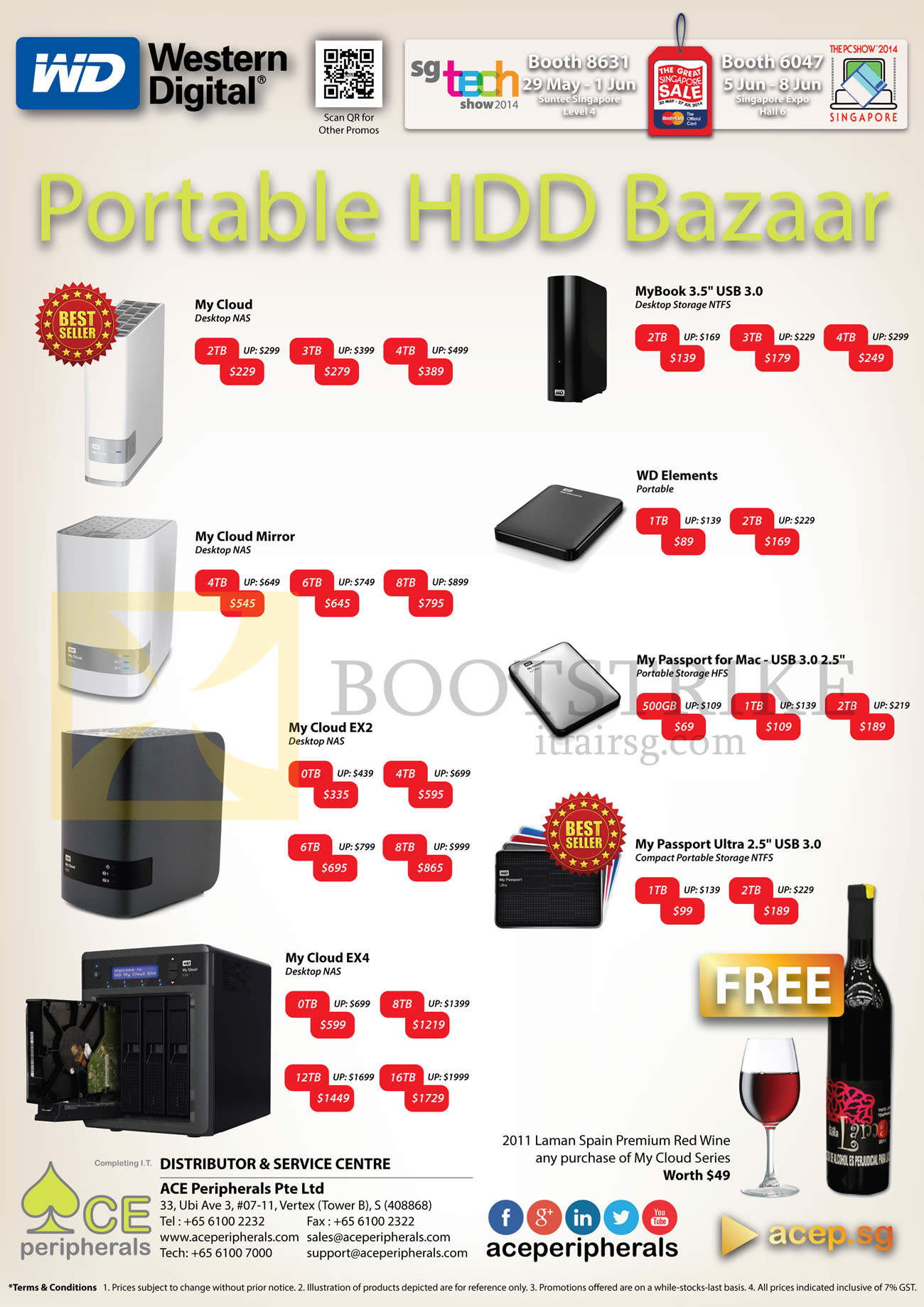 ACE Peripherals Western Digital Portable HDDs My Cloud