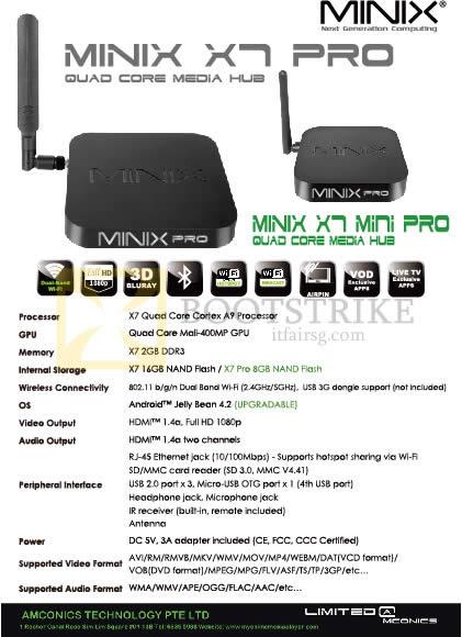 PC SHOW 2014 price list image brochure of Amconics Minix X7 Pro Media Hub Android, Mini, Player