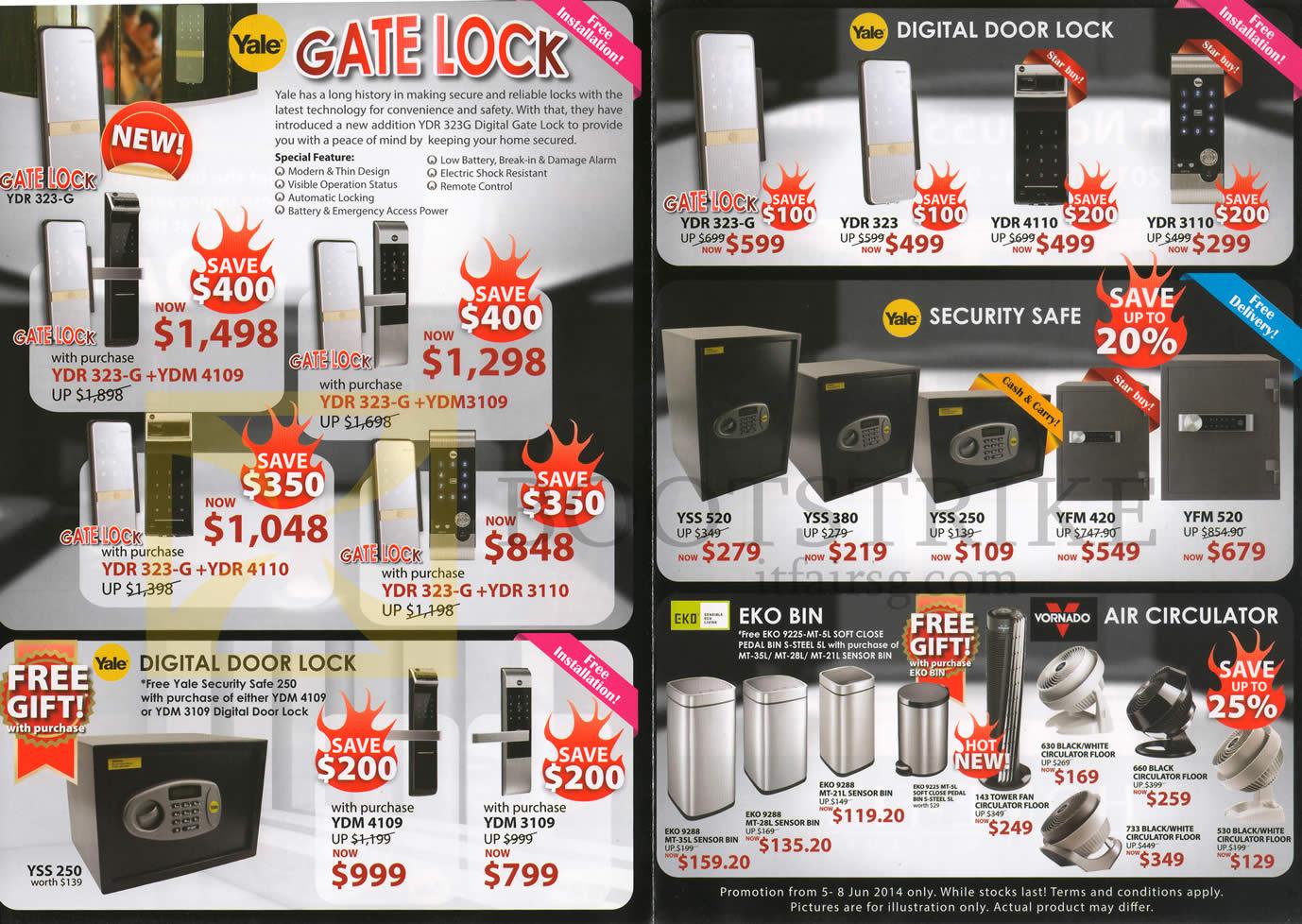 Home-Fix Yale Gate Lock, Digital Door Lock, Security Safe