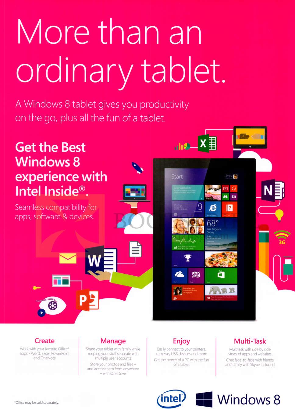 PC SHOW 2014 price list image brochure of Intel Windows 8