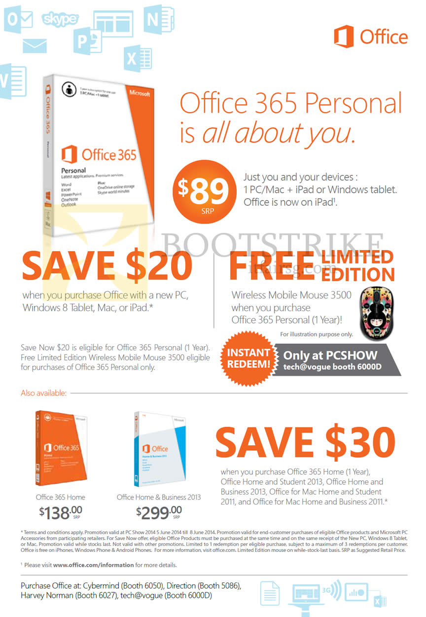 Microsoft Office 365 Personal, Home, Home N Business 2013 PC SHOW ...