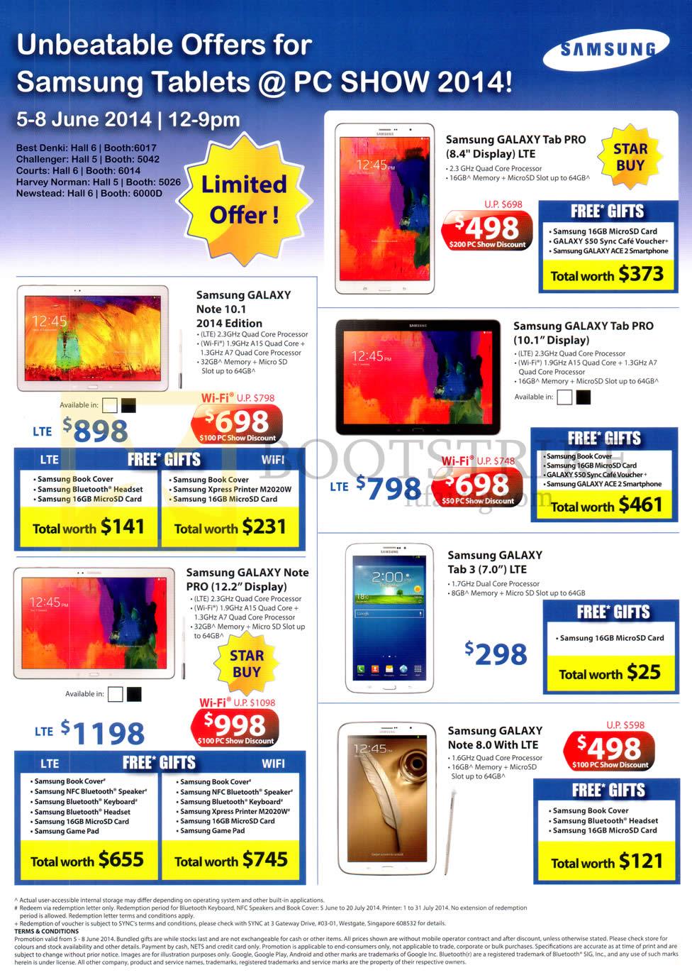 Samsung Galaxy Tab Pro 8 4, 10 1, Note 10 1, Note Pro 12 2, Tab 3