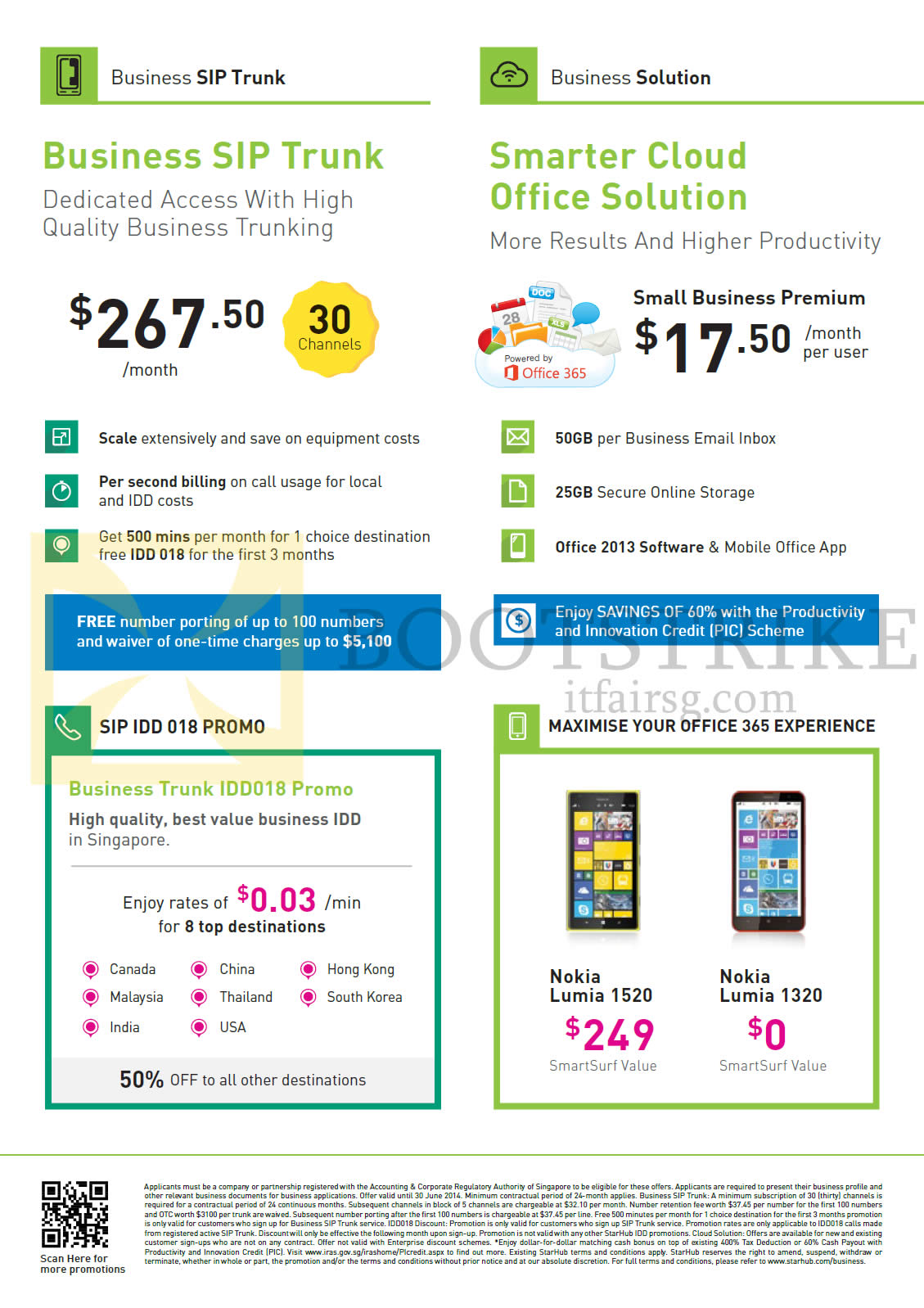 Starhub business sip trunk smarter cloud office solution for Sip prices