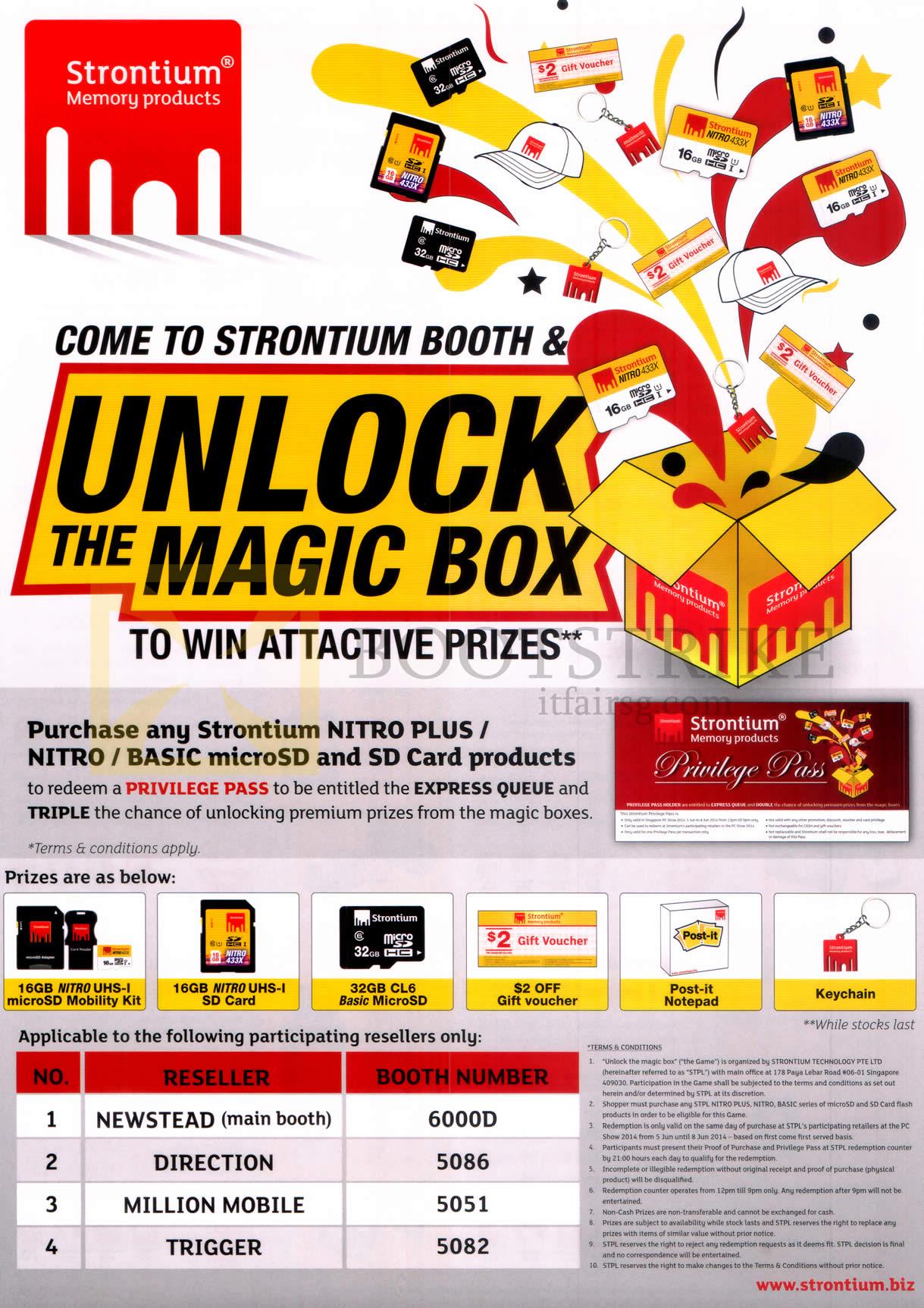 PC SHOW 2014 price list image brochure of Strontium Magic Box Win Attractive Prizes
