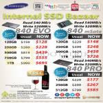 Samsung Internal SSD Bazaar Samsung 840 EVO, 840 MSata, 840PRO