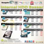 Seagate Internal HDD Bazaar Solid State Hybrid, Surveillance, Constellation, Barracuda, NASworks