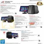 Desktop PCs Gaming ROG G70AB-SG001S, G50AB-SG001S-EXT, G30AB-SG005S, G10AC-SG010S-UPS