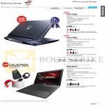 Notebooks ROG G750JZ-T4002H, G750JS-T4003H, G56JR-CN273H
