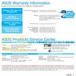 Warranty Information, Products Service Centre