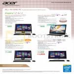 AIO Desktop PCs Aspire ZC-610, Z3-600, Z3-610, U5-610