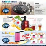 VC2000 Vacuum Cleaner, JuiceMax Juicer, Lollie Egg Roll Maker