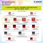 Photo Papers Glossy, Photo Paper Plus Glossy, Pro Platinum, Luster Paper, Semi Glossy