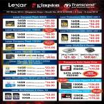 Flash Memory Cards Kingston, Lexar, Transcend, Compact Flash CF, MicroSD, UHS-1, Hyper X 3K SSD, SSDNow V300