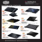 Cooler Master Notebook Coolers SF-17, SF-15, Notepal I300, L1, X3, Ergostand Lite W2, X-Slim II, X-Lite II