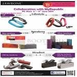 MyRepublic Jawbone Speakers, Headset, Big Jambox, Mini Jambox, Era