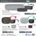 NudeAudio Portable Speakers Move L, M, S