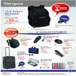 Targus Backpacks Pulse II, Incognito, Optical Mouse, Crave II Slipcase M Book, IPhone Slim Case