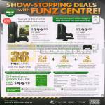 Funz Centre Microsoft Xbox 360 Bundle, Kinect Bundle, Live Gold, Accessories, Wireless Controler, Sensor, Wheel