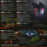 MSI Notebooks GS70 2PE 050SG, 2PC 070SG, GS60 2PE 043SG, 2PC 047SG, GP60 2PE 031SG
