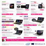 Intel Windows Mobile Phones, Notebooks, Acer Iconia W4, Aspire Switch 10, Transformer Book T300, VivoTab Note 8, Transformer Book T100, Lenovo Miix 2 8, 2 11