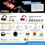 Nubox Sennheiser Headphones, Earphones, Momentum, CX685, MX685, OCX-685i, PMX685i, PX685i, HDR 170, RS 170
