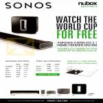 Sonos Wireless 3.1 Home Theatre System, Playbar Sub Bridge