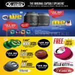 X-Mini Capsule Speakers Me, We, Max, Uno, Kai, Hello Kitty
