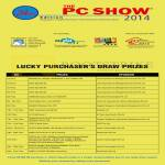 PC Show Lucky Draw Prizes