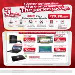 Singtel Broadband Fibre Entertainment Bundle 79.90 300Mbps Free 3 Months, Sony PS4, Samsung TV, Acer TravelMate P246 Notebook, Apple Macbook Air, Aftershock XVG13