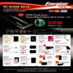 Energizer Portable Chargers XP1000, XP1000A, XP2001, XP1000KT, XP3000M, XP3000A, XP4003A, XP1000K, SP2800, XP8000A, AP1202, AP1201, AP1000