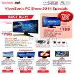 Viewsonic Monitors VP2770-LED, VP2246, VX2370S, VX2270Smh, VX2770Sml, VX2452mh