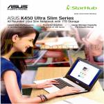 Fibre Broadband Asus K450 Notebook