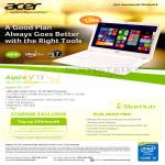 Fibre Broadband 100Mbps Acer Aspire V3-371 Notebook Specification