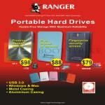 Systems Tech Ranger External Storage Hard Disk Drives, QP-II 1TB, EP 1TB, FP 500GB
