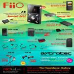 FiiO X5 Player, Amplifiers E07K Andes, E17 Alphen, E06, E11, E12, E18 Kunlun, X3, Charger, Astrotec Earphones AX30 AX35