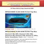 Set Top Box MPEG4, HDMI H.264 DVB-T2