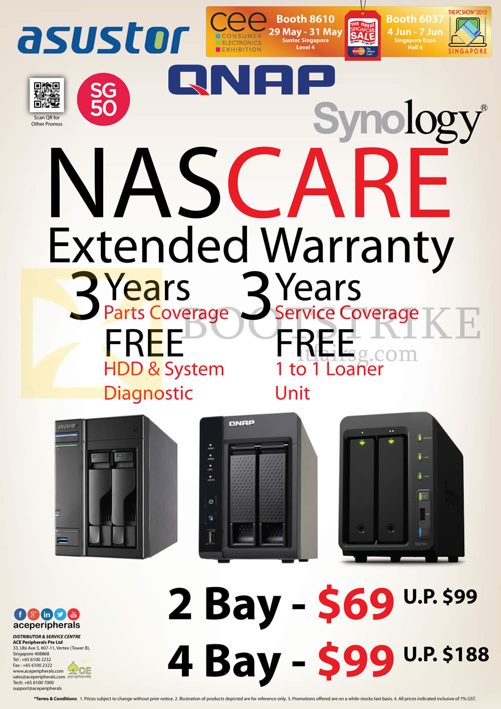 PC SHOW 2015 price list image brochure of Ace Peripherals NASCare