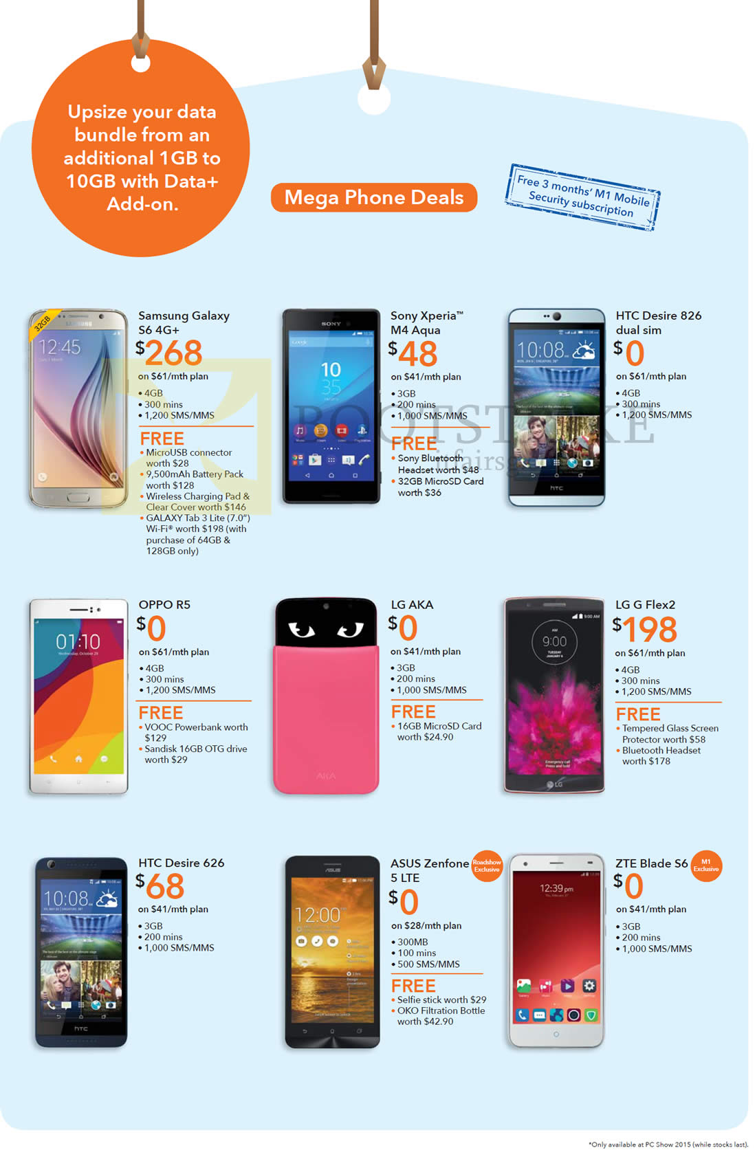 samsung galaxy s6 price list. pc show 2015 price list image brochure of m1 samsung galaxy s6, sony xperia m4. « s6