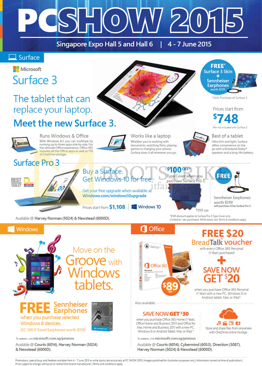 Microsoft Surface 3 Tablet, Surface Pro 3, Office 365 Personal Home ...