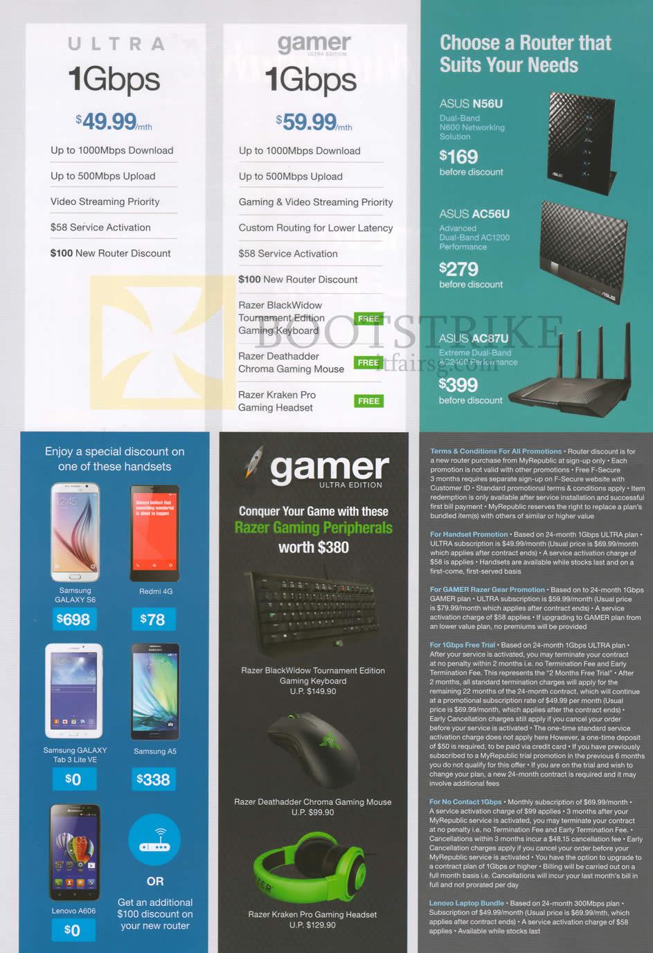 PC SHOW 2015 price list image brochure of MyRepublic 1Gbps Fibre Broadband Ultra, Gamer Broadband