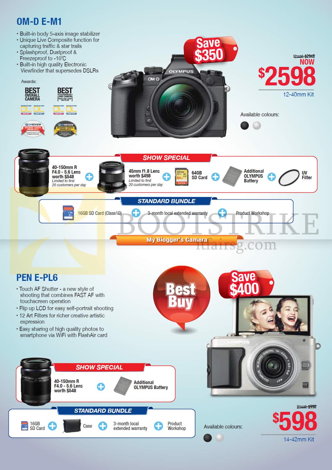 Olympus Digital Cameras OM-D E-M1, Pen E-PL6